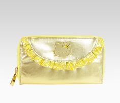 Hello Kitty Long Wallet: Gold  Item #50246  NEW  $37.00
