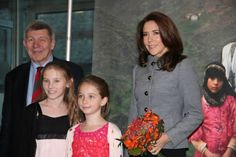 """On November 5, 2013, Crown Princess Mary attended the presentation of UNFPA's """"Motherhood in childhood"""" population report at Chr. Hansen University."""
