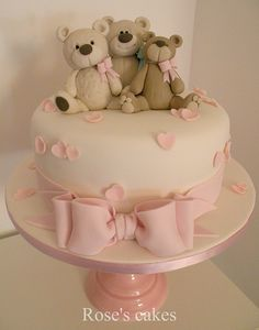 three bears - how great for a baby cake. Baby Cakes, Girl Cakes, Baby Shower Cakes, Cupcake Cakes, Gorgeous Cakes, Pretty Cakes, Cute Cakes, Amazing Cakes, Teddy Bear Cakes