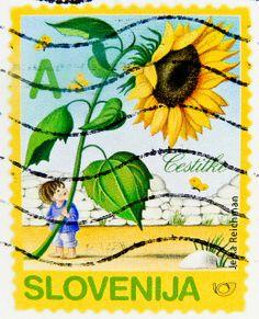 "beautiful stamp Slovenija postage ""A""-Class Sunflower Sonnenblume briefmarke Blume flower Slovenien postage porto Slovenia stamp Slovenija poštne znamke Eslovenia sello selo Σλοβενία γραμματόσημα Slovenia francobollo 斯洛维尼亚 邮票  ма́рка Слове́ния timbre by stampolina, via Flickr"