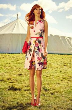 ec926d2f7f41d6 Ted Baker London  Nude Oil Painting  Floral Print Dress