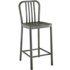 """Lowest price online on all Modway Clink 26"""" Metal Counter Stool in Silver - EEI-2040-SLV"""
