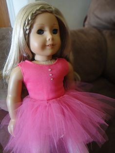 No Sew Tutu | Free Sewing Pattern for American Girl Dolls