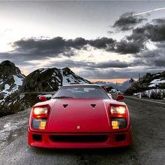 F40 in the alps