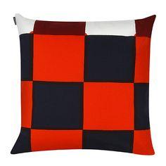 Marimekko's Kukko ja Kana cushion cover, blue-red