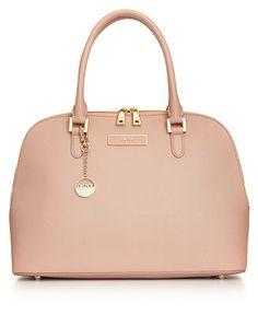 DKNY Handbag, Saffiano Round Satchel - DKNY - Handbags & Accessories - Macy's