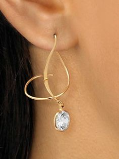 DiamonUltra Spiral Earrings | NormThompson.com #Holidays #Sparkle #Jewelry #Earrings
