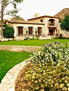 Contemporary farmhouse exterior design reflects the whole type of the space and the tradition. And these Mediterranean farmhouse exterior are fantastic examples for how to create a home designed. Mediterranean Style Homes, Spanish Style Homes, Spanish House, Spanish Colonial, Mediterranean Architecture, Spanish Exterior, Spanish Architecture, Spanish Design, Spanish Revival