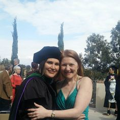 With my childhood bff she got her Doctorate today!  Couldn't be prouder!
