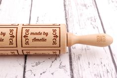 Hey, I found this really awesome Etsy listing at https://www.etsy.com/listing/228252785/made-by-biscuits-style-personalized
