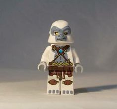 pictures of white chima knight | LEGO Chima Grizzam Minifigure 70009 White Gorilla Dual Sided Head FREE ...