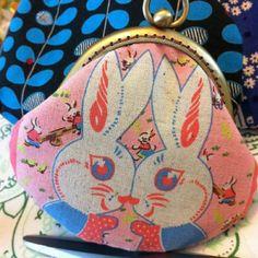 Vintage fabric 8.5cm coin purse