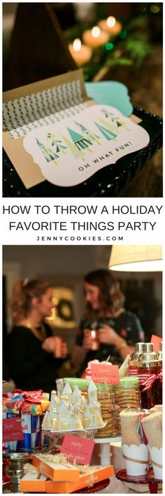 How to Host a Holiday Favorite Things Party   holiday party ideas   Christmas party ideas   party ideas for the holidays   party ideas for Christmas   hosting a holiday party    JennyCookies.com #holidayparty #christmasparty #favoritethingsparty #holidayhosting