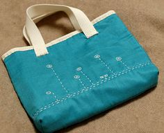https://flic.kr/p/6gP74H | A cat seeing flowers tote bag | I love this blue-green cotton.