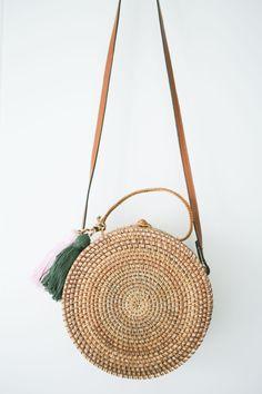 Billie Bag - Cane Round Clutch Bag #mymatildalane www.matildalane.com.au