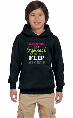 warning i'm a gymnast Youth Hoodie