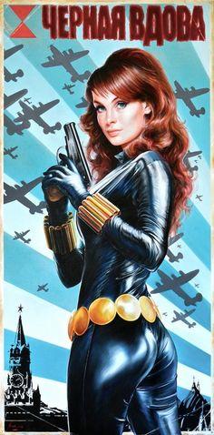 Black Widow by Fred Ian #FredIan #BlackWidow #NataliaRomanova #NatashaRomanoff #SHIELD #TheChampions #Avengers #KGB