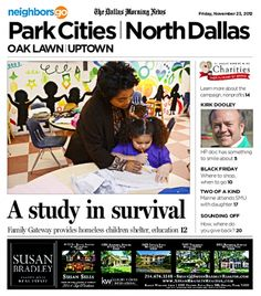 11/23 Cover Story: More than 2,700 Dallas ISD students are homeless, and the Strauss Family Gateway Center helps many of them.