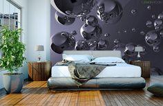 Trochę abstrakcji #Fototapeta z aranżacji ➡ http://bit.ly/Lustrzane-Banki  #Fototapety #aranzacje #wystrojwnetrz #murals
