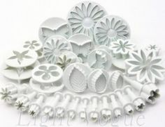 Free Shipping Valentine 33 pc New Flower Rose Leaf Petal Cookie Cutter Set Fondant Tool Decorating Press Baking Mould Cake Mold