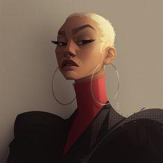 Study 21 by Meybis Ruiz Cruz Black Girl Art, Art Girl, Art Des Gens, Graphic Design Illustration, Illustration Art, L'art Du Portrait, Inspirational Artwork, Animation, Magic Art
