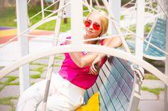 My Blonde Gal: RETRO CLASSIC METAL AVIATOR MULTI COLOR TINTED LENS AVIATOR SUNGLASSES 8405 59MM