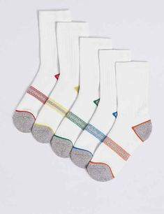Get her all ready for class with our range of girls' school tights and socks. Find breathable and comfortable pieces in the collection at M&S Tennis Socks, Sport Socks, Knitted Christmas Jumpers, Christmas Knitting, Girls Socks, Striped Socks, Liner Socks, Christmas Makes, Thermal Tights