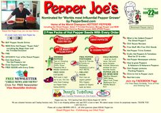 ★ Pepper Joe's and Penny's Tomatoes are both safe, Monsanto-free, non-GMO, clean-seed companies.