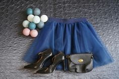 Blue mini tulle skirt. Order by message or visit my shop https://www.facebook.com/cheremyha.store