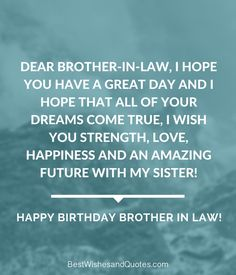 21 Best Happy Birthday Brother In Law Images In 2017 Happy