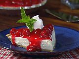 Cherry Cream Cheese Pie.  This recipe is so easy I can't even stand it and it's delicious to boot.  Made them the other day with mini graham cracker crusts.  Great idea for portion control...though I would rather eat the whole pie by myself.