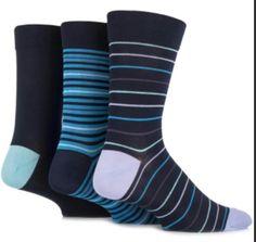 f593faa4b Gentle Grip Diabetic Bamboo Socks Cyan Navy www.jackinthesocks.ca Grip Socks