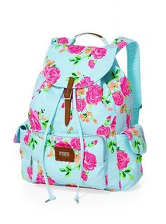 Shop backpacks for school at PINK to find the perfect bag that can handle it all! Shop the selection of cute backpacks & bookbags today. Victoria Secret Rucksack, Mochila Victoria Secret, Backpacks For Teens School, School Bags, School Stuff, Floral Backpack, Backpack Purse, Puppy Backpack, Backpack Store