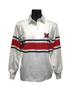 Barbarian Rugby M Lc White/black/red 12238514   Miami University Bookstore