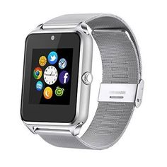 97dc7d4c5f3 Smartphones Smart Watch Cell Phone iPhone Android HD Camera Bluetooth  Silver New  SmartphonesSmartWatch Android 4