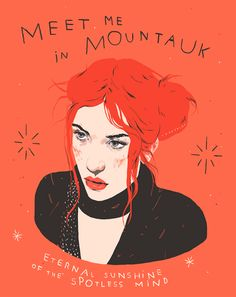 eternal sunshine of the spotless mind - mini glossy print Clementine Eternal Sunshine, Meet Me In Montauk, Cult, Film Posters, Illustration Art, Sketches, Mindfulness, Art Prints, Drawings