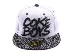 Snapback Coke Boys Grise avec visière Lurex