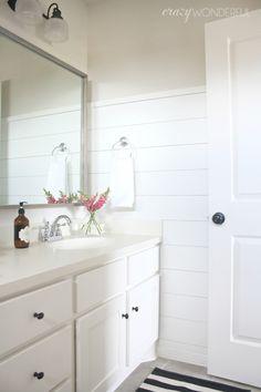 shiplap girl's bathroom reveal