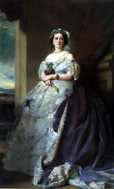 Portrait of Lady Middleton by Franz Xaver Winterhalter - Oil Painting Reproductions Franz Xaver Winterhalter, Victorian Women, Victorian Fashion, Lady, Painted Ladies, Oil Painting Reproductions, Queen Victoria, Woman Painting, Beautiful Paintings