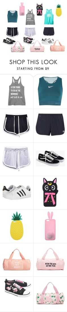 """""""Workout Outfits"""" by kw82 on Polyvore featuring NIKE, Under Armour, Tory Sport, J.Crew, adidas, Miss Selfridge, ban.do and RED Valentino"""
