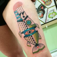 newest 58116 321c9 Winston the Whale - Fish factory tattoo  winstonthewhale Grafic Art, Pretty  Tattoos, Hand