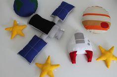 Conjunto de #Almofada #Sistema Solar. #Foguete #Estrela #Satelite #Jupiter #Terra #Spaceship #cushion #pillow #solarsystem #star #earth