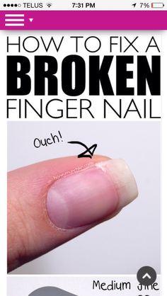 Fix Ur Broken Nail  #Beauty #Trusper #Tip
