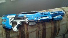 Gold /& Teal Dart Tag pump Rifle weapon prop Steampunk Nerf Rifle
