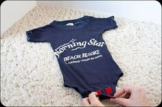 T-shirt Onesie Tutorial. Make your own onesies out of old t-shirts!