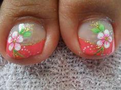 Toe Nail Art, Toe Nails, Cute Pedicures, Manicure Y Pedicure, Toe Nail Designs, Summer Nails, Finger, Crochet, Stickers