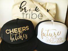 NEW Future Mrs. & Cheers Bitches Trucker Hats by designtwentyfive