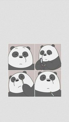 Wallpaper, Feeds & Lockscreen - ──ꪶཷ୭ we bare bears wallpaper Panda Wallpaper Iphone, Cute Panda Wallpaper, Bear Wallpaper, Cute Disney Wallpaper, Kawaii Wallpaper, Cute Wallpaper Backgrounds, Screen Wallpaper, We Bare Bears Wallpapers, Panda Wallpapers