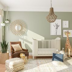 Designing a room for baby? Get inspired for your baby's room design with these 9 trendy nursery design ideas. Baby Room Design, Nursery Design, Baby Room Decor, Nursery Room, Girl Nursery, Baby Room Neutral, Gender Neutral, Nursery Neutral, Ideas Habitaciones