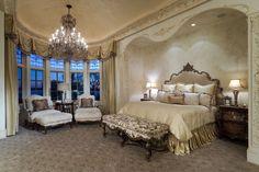Fancy bedroom!  Russell Ross Design - Luxe Interiors + Design